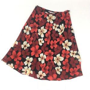 Dress Barn Floral Skirt Size 6